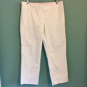 Vineyard Vines Pants - Vineyard Vines White Capri Pants Cropped 8 Trouser